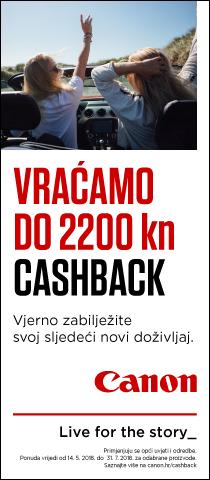 Canon cash back ljeto 2018 u Canosi