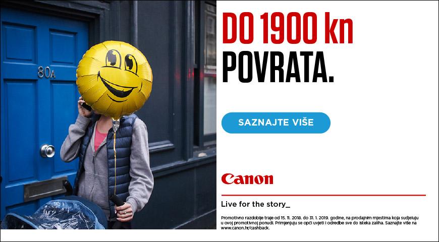 Canon CashBack 2018 zimska promocija