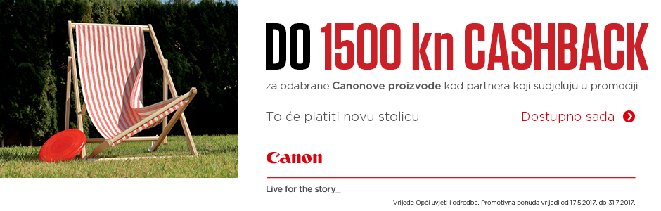 Canon CashBack akcija EOS DSLR fotoaparat i EF objektiv povrat novca