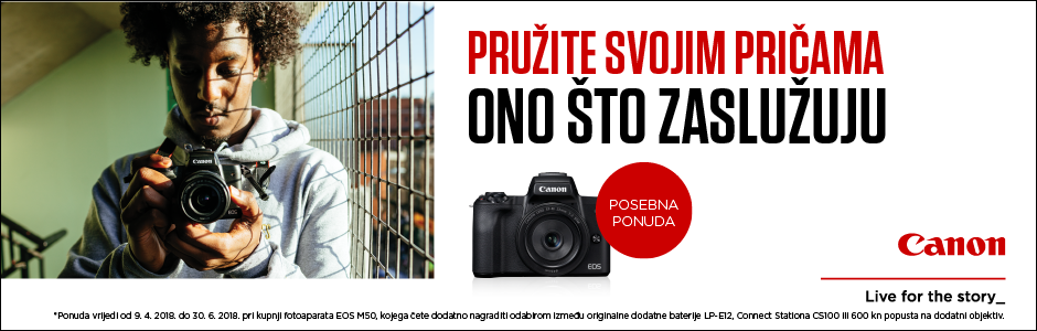 Canon EOS M50 Beggining of life promocija