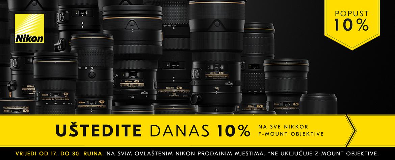 Nikon promocija na F mount objektive
