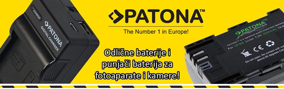 Patona kvalitetne baterije i punjači za fotoaparate i kamere