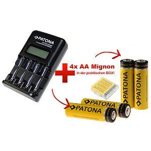 Patona Fast LCD Display Charger + 4xAA 2200mAh punjive baterije