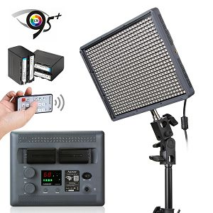 Aputure Amaran HR-672C CRI 95+ LED Video rasvjeta + NP baterije HR672C w/Remote kit