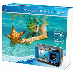 Aquapix W1400 Active Blue (10051) 14MP podvodni vodonepropusni digitalni fotoaparat do 3m s 2x LCD Digital Underwater camera with dual screen - BLACK FRIDAY
