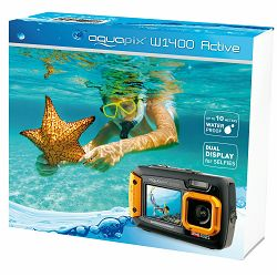 Aquapix W1400 Active Orange (10050) 14MP podvodni vodonepropusni digitalni fotoaparat do 3m s 2x LCD Digital Underwater camera with dual screen