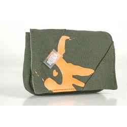 Bilora Cotton green zelena pamučna torbica za kompaktne fotoaparate pouch case small bag for compact camera