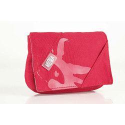 Bilora Cotton red crvena pamučna torbica za kompaktne fotoaparate pouch case small bag for compact camera