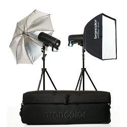 Broncolor SIROS 800 Basic KIT 2 WiFI RFS 2.1 komplet 2x 400Ws 800J + 2x reflektirajuća kišobrana (31.682.XX)