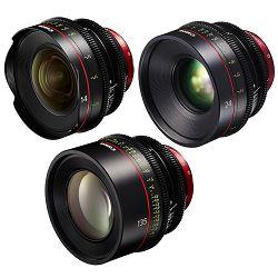 Canon Cine Lens KIT CN-E 14/24/135 Bundle Primes lens set (CN-E 14mm T3.1 L F + CN-E 24mm T1.5 L F + CN-E 135mm T2.2 L F) (8325B011AA)