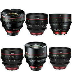 Canon Cine Lens KIT CN-E 14/24/35/50/85/135 Bundle Primes lens set (CN-E 14mm T3.1 L F + CN-E 24mm T1.5 L F + CN-E 35mm T1.5 L F + CN-E 50mm T1.3 L F + CN-E 135mm T2.2 L F) (8325B019AA)