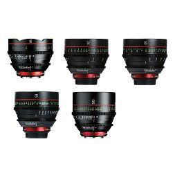 Canon Cine Lens KIT CN-E 14/24/50/85/135 Bundle Primes lens set (CN-E 14mm T3.1 L F + CN-E 24mm T1.5 L F + CN-E 85mm L F + CN-E 135mm T2.2 L F) (8325B016AA)