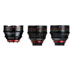 Canon Cine Lens KIT CN-E 14/50/85 Bundle Primes lens set (CN-E 14mm T3.1 L F + CN-E 50mm T1.3 L F + CN-E 85mm L F) (8325B012AA)