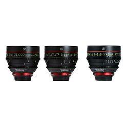 Canon Cine Lens KIT CN-E 24/50/85 Bundle Primes lens set (CN-E 24mm T1.5 L F + CN-E 50mm T1.3 L F + CN-E 85mm L F) (6569B005AA)