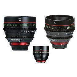 Canon Cine Lens KIT CN-E 24/85/135 Bundle Primes lens set (CN-E 24mm T1.5 L F + CN-E 85mm L F + CN-E 135mm T2.2 L F) (8326B007AA)
