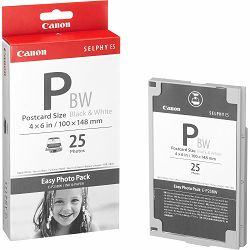 Canon E-P25BW foto papir Easy Photo Pack Postcard Size (Black & White) 100x148mm za Selphy ES1, ES2, ES3, ES30, ES40 1251B001AA