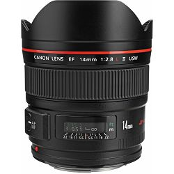 Canon EF 14mm f/2.8 L II USM širokokutni objektiv prime lens 14 2.8 f2.8 (2045B005AA) - CASH BACK promocija povrat novca u iznosu 750 kn