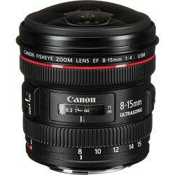 Canon EF 8-15mm f/4 L USM fisheye objektiv 8-15 f4.0 f/4L fish-eye (4427B005AA)
