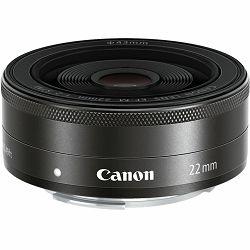 Canon EF-M 22mm f/2 STM fiksni širokokutni objektiv prime lens 22 F2.0 (5985B005AA) - ZIMSKA PONUDA