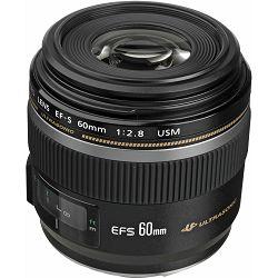 Canon EF-S 60mm f/2.8 USM Macro objektiv lens 60 F/2.8 1:2,8 2.8 (0284B007AA) - UHVATI POPUST
