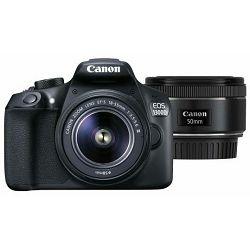 Canon EOS 1300D 18-55 DC III + 50mm 1.8 STM digitalni fotoaparat + objektiv 18-55 F3.5-5.6 FullHD 18MP ISO6400 (AC1160C103AA)