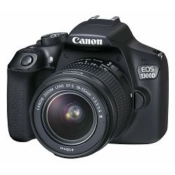 Canon EOS 1300D + 18-55 IS Power KIT DSLR digitalni fotoaparat, objektiv EF-S 18-55mm F3.5-5.6 IS i dodatna baterija (1160C074AA) - CASH BACK promocija povrat novca u iznosu 225 kn