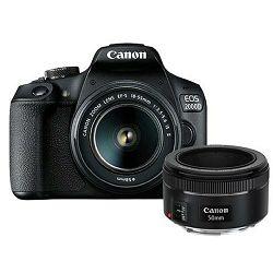 Canon EOS 2000D + 18-55 IS + 50mm f/1.8 STM DSLR Digitalni fotoaparat s objektivom EF-S 18-55mm f/3.5-5.6 i 50 1.8 (2728C030AA)