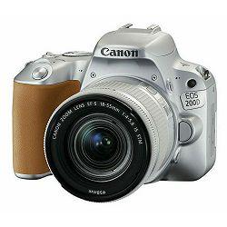 Canon EOS 200D + 18-55 IS STM SL Silver srebreni DSLR Digitalni fotoaparat i standardni zoom objektiv EF-S 18-55mm f/4-5.6 (2256C001AA)
