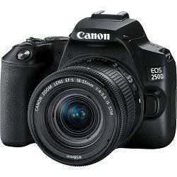Canon EOS 250D + 18-55 IS STM Black DSLR Digitalni fotoaparat s objektivom EF-S 18-55mm f/4-5.6 (3454C007AA)