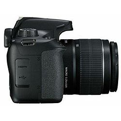 Canon EOS 4000D + 18-55 DC III Black DSLR Digitalni fotoaparat s objektivom EF-S 18-55mm f/3.5-5.6 (3011C018AA)