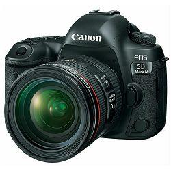 Canon EOS 5D Mark IV + 24-70 f/4 L kit DSLR digitalni fotoaparat i objektiv Camera with 24-70mm F4 f/4L Lens (1483C020AA)