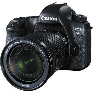 Canon EOS 6D + 24-105mm f/3.5-5.6 STM Wi-Fi + GPS DSLR Digitalni fotoaparat s objektivom 24-105 f3.5-5.6 (8035B108AA)