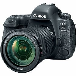 Canon EOS 6D Mark II + 24-105 IS STM DSLR Full Frame Digitalni fotoaparat i standardni zoom objektiv EF 24-105mm 3.5-5.6 (1897C022AA) - CB PROMOTION