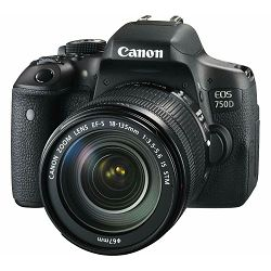 Canon EOS 750D + 18-135 IS STM DSLR digitalni fotoaparat s objektivom 18-135mm f/3.5-5.6 allround Lens (0592C009AA)