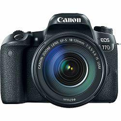 Canon EOS 77D + 18-135 IS USM NANO DSLR Camera with lens Digitalni fotoaparat i objektiv EF-S 18-135mm f/3.5-5.6 (1892C004AA) - CASH BACK promocija povrat novca u iznosu 700 kn