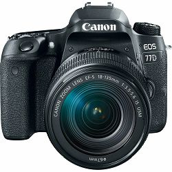 Canon EOS 77D + 18-135 IS USM NANO DSLR Camera with lens Digitalni fotoaparat i objektiv EF-S 18-135mm f/3.5-5.6 (1892C004AA)