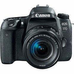 Canon EOS 77D + 18-55 IS STM DSLR Camera with lens Digitalni fotoaparat i objektiv EF-S 18-55mm f/4-5.6 (1892C017AA)