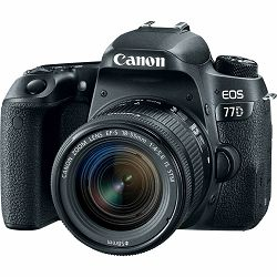 Canon EOS 77D + 18-55 IS STM DSLR Camera with lens Digitalni fotoaparat i objektiv EF-S 18-55mm f/4-5.6 (1892C017AA) - GETREADY