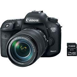 Canon EOS 7D Mark II + 18-135 IS USM NANO + W-E1 WiFi adapter WE1 DSLR digitalni fotoaparat s objektivom EF-S 18-135mm (9128B137AA) - UHVATI POPUST