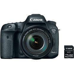 Canon EOS 7D Mark II + 18-135 IS USM NANO + W-E1 WiFi adapter WE1 DSLR digitalni fotoaparat s objektivom EF-S 18-135mm (9128B137AA)