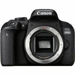 Canon EOS 800D Body 24.2MP FullHD 60fps Dual Pixel CMOS AF WiFi DSLR Camera Digitalni fotoaparat (1895C001AA)