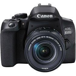 Canon EOS 850D + 18-55 IS STM DSLR digitalni fotoaparat s objektivom EF-S 18-55mm f/3.5-5.6 (3925C016AA)