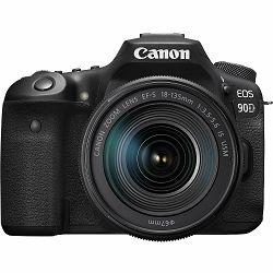 Canon EOS 90D + 18-135 IS USM NANO DSLR digitalni fotoaparat s objektivom 18-135mm f/3.5-5.6 (3616C029AA)
