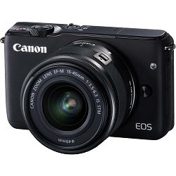 Canon EOS M10 15-45 KIT Black crni WIFI Mirrorless Digital Camera bezzrcalni digitalni fotoaparat + 15-45mm objektiv (0584C012AA)
