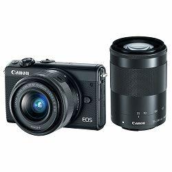 Canon EOS M100 + 15-45 IS STM + 55-200 IS STM Black Mirrorless Digitalni fotoaparat EF-M 15-45mm 3.5-6.3 i 55-200mm 4.5-6.3 (2209C022AA)