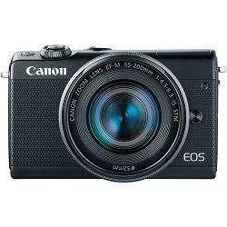 Canon EOS M100 + 15-45 IS STM + 55-200 IS STM Black Mirrorless Digitalni fotoaparat EF-M 15-45mm 3.5-6.3 i 55-200mm 4.5-6.3 (2209C022AA) - CASH BACK promocija povrat novca u iznosu 300 kn