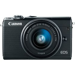Canon EOS M100 + 15-45 IS STM + 55-200 IS STM Black Mirrorless Digitalni fotoaparat EF-M 15-45mm 3.5-6.3 i 55-200mm 4.5-6.3 (2209C022AA)