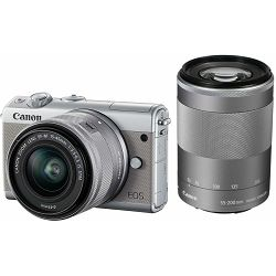 Canon EOS M100 + 15-45 IS STM + 55-200 IS STM Gray Mirrorless Digitalni fotoaparat EF-M 15-45mm 3.5-6.3 i 55-200mm 4.5-6.3 (2211C022AA)