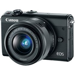 Canon EOS M100 + 15-45 IS STM Black Mirrorless Digital Camera crni Digitalni fotoaparat s objektivom EF-M 15-45mm 3.5-6.3 (2209C049AA) - CASH BACK promocija povrat novca u iznosu 300 kn