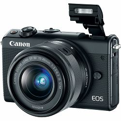 Canon EOS M100 + 15-45 IS STM Black Mirrorless Digital Camera crni Digitalni fotoaparat s objektivom EF-M 15-45mm 3.5-6.3 (2209C049AA) - CASH BACK promocija povrat novca u iznosu 300 kn